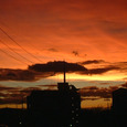 雲と夕日と