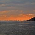 瀬戸大橋に沈む夕日